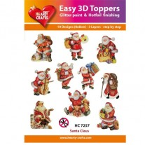 Hearty Crafts 3D toppers Père Noël