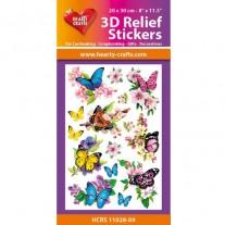 Hearty Crafts Autocollants 3D à relief Papillons