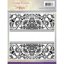Jeanine's Art Plaque Embossage Fleurs Vintage