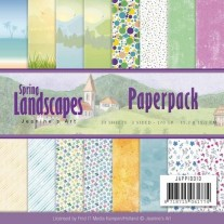 "Jeanine's Art Pad 6""X6"" Paysages printaniers"