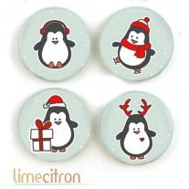 Limecitron Badges Pingouins