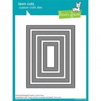 Lawn Fawn Matrice de découpe Stitched Rectangles cadres