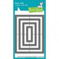 Lawn Fawn Matrice de découpe Cross Stitched Rectangles petits