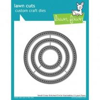 Lawn Fawn Matrice de découpe Cross Stitched Cercles petits