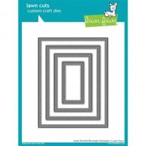 Lawn Fawn Matrice de découpe Large Stitched Rectangles