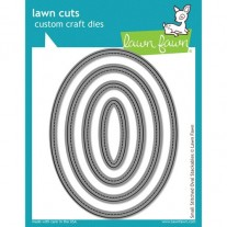 Lawn Fawn Matrice de découpe Small Stitched Ovales