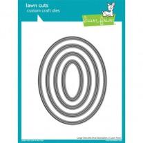 Lawn Fawn Matrice de découpe Large Stitched Ovales