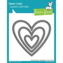 Lawn Fawn Matrice de découpe Stitched Coeurs