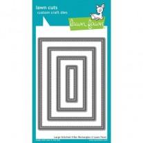 Lawn Fawn Matrice de découpe Stitched Large 4 barres rectangles