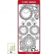 Peel Off Horloge 1 Transparent/Or
