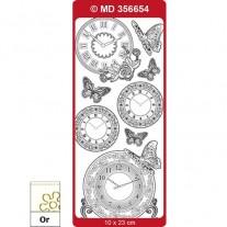 Peel Off Horloge 2 Transparent/Or