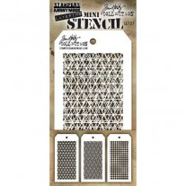 Tim Holtz Ensemble Mini Stencil 27