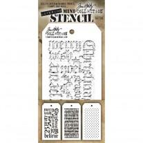 Tim Holtz Ensemble Mini Stencil 20