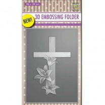 Nellie's Choice Plaque embossage 3D Croix