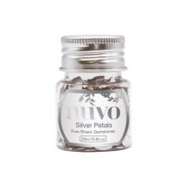 Nuvo Pure Sheen Gemstones Silver Rectangles