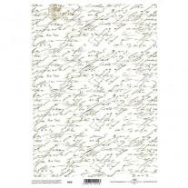 Papiers de scrapbooking translucides Écritures