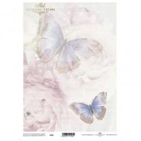 Papiers de scrapbooking translucides Papillons