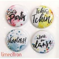 Limecitron Badges Party