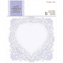 Papermania French Lavender Die-Cut Lace Paper