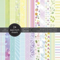 "Memory Box Pad 6""X6"" Bouquet printanier"