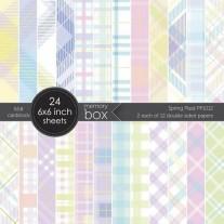 """Memory Box Pad 6""""X6"""" Tissu écossais printanier"""