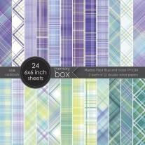 "Memory Box Pad 6""X6"" Bleu & Violet"