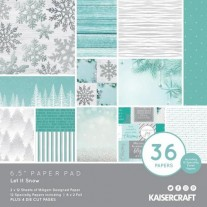 "Kaisercraft Pad 6.5""X6.5"" Let It Snow"