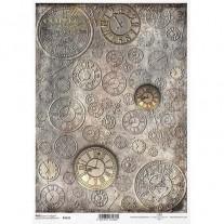 ITD Collection Papier de Riz Horloges vintages