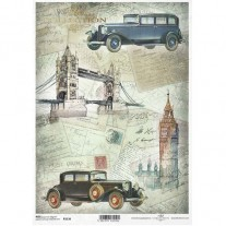 ITD Collection Papier de Riz Vieilles Automobiles