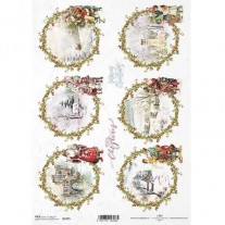 ITD Collection Papier de Riz Couronnes de Noël