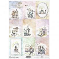 ITD Collection Papier de Riz Ange pastel