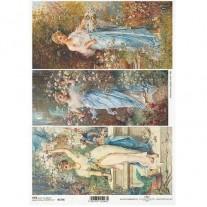 ITD Collection Papier de Riz Femmes vintage