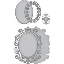 Spellbinders Shapeabilities Victoriana Crest