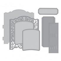 Spellbinders Shapeabilities Grand cabinet 3D Card