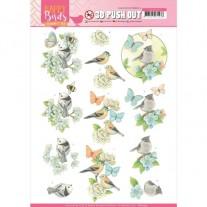 Amy Design 3D Images Oiseaux & Papillons en Bleu
