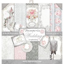 "Stamperia Pad 12"" x 12"" Mariage"