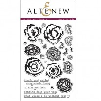 Étampe Altenew Scribbled Flowers