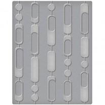 "Spellbinders Plaque Embossage Curtain Beads 4.25""x 5.5"""