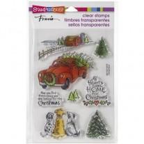 Étampe Stampendous Ferme de Noël