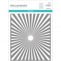 """Spellbinders Stencil 6"""" x 9""""  Rayons de Soleil"""
