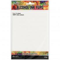 """Tim Holtz papiers Yupo pour Alcohol Ink blanc 5""""x7"""""""