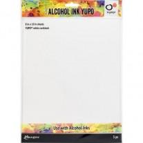 """Tim Holtz papiers Yupo pour Alcohol Ink blanc 8""""x10"""""""