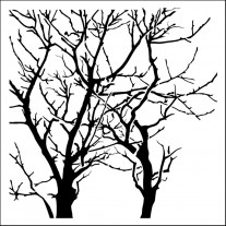 """Masque Branches inversées 12""""X12"""""""