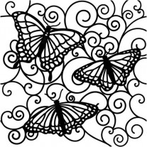 Masque Flutterby 6 X 6 pouces