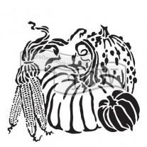 Masque Récolte de Citrouilles 6 X 6 pouces