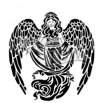 Masque Ange en Prière 6 X 6 pouces
