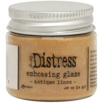 Distress Embossing Glaze Antique Linen