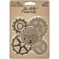 Tim Holtz Engrenages en métal Antique Nickel, Brass & Cuivre