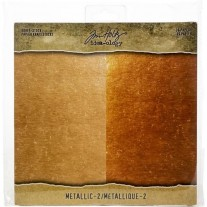 """Tim Holtz Pad 8""""X8"""" Metallic 2"""