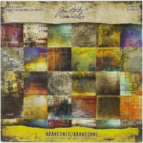 """Tim Holtz Pad Cardstock 8"""" X 8"""" Abandoned"""